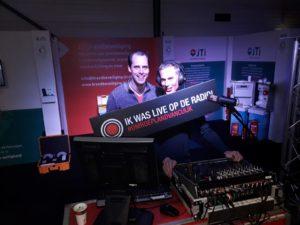 Erik Wille en Dave Vloet, radiomakers bij de omroep