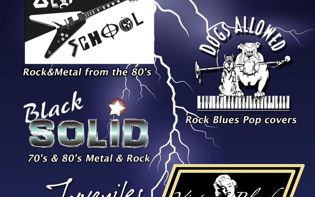 Vijf regionale rockbands op ThunderRock 2019
